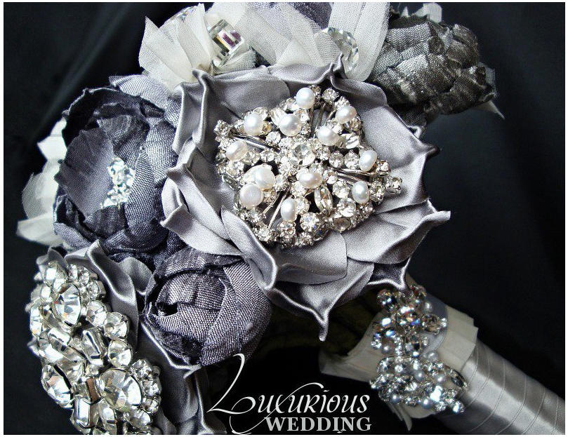 Bouquet Jewels Jeweled Bridal Bouquet at