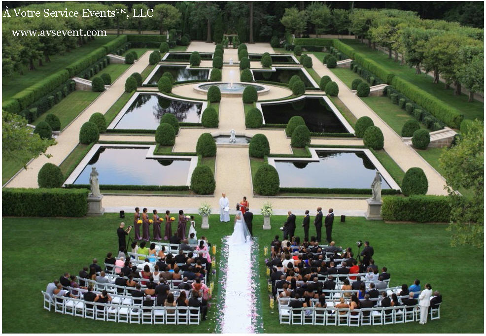 Oheka Castle Gardens Wedding